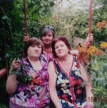 Слева направо: Евгения Давыдовна ее дочь Наталия и Людмила Дмитриевна