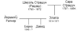 Рис.26 Граф родословной семьи Златы Страшун