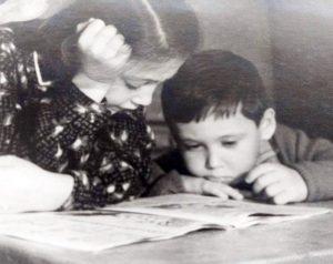 Лиана с братом Вадиком