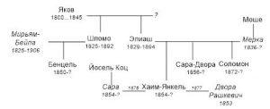 Граф родословной семьи Якова Страшуна из Вильны
