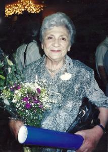 Римма Яковлевна Экслер в день получения диплома Почётного гражданина Иерусалима, 2001