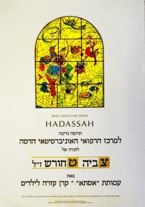 Грамота, полученная амутой «ASTА» в память об открытиив Иерусалимской больнице Адасса Эйн-Керемпроекта «Здоровье в подарок», посвящённого памяти Цвии Тхорш, 2009
