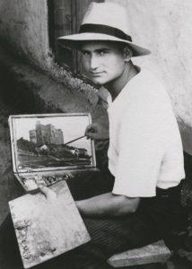 Пишу замок. Студенческие каникулы. Хмельник, 1955