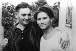С папой. Хмельник, 1956