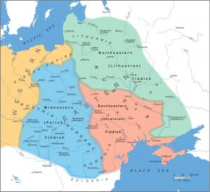 Диалекты идиша в Восточной Европе