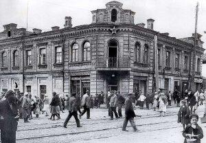 Здание на пересечении улиц Дмитриевской и Бульварно-Кудрявской (Воровского)
