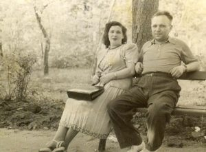 Евгения Афраимовна Бенционова-Гиль и Иосиф Моисеевич Гиль, 1947г., Харьков